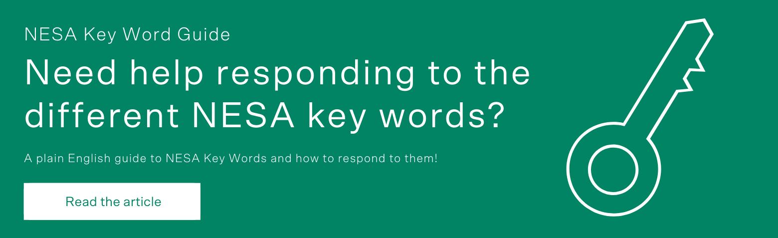 How To Respond To NESA Key Words CTA