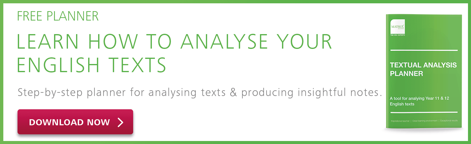 Year 11 English Textual Analysis Planner