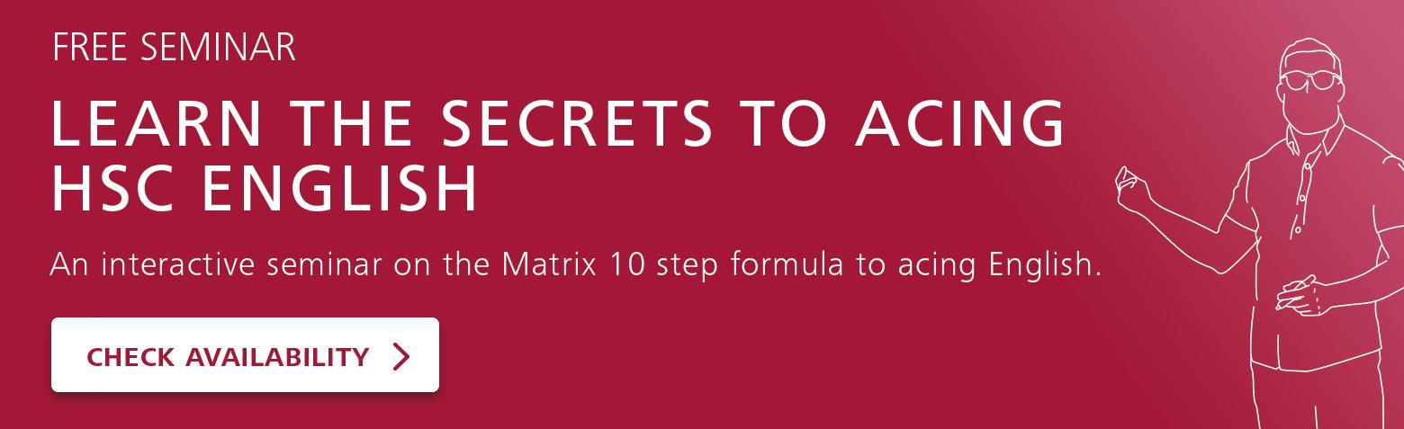 Year 12 English Advanced Study Guide | Matrix Education