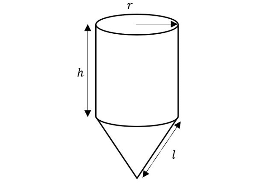 guide-maths-y-9-SA-composite-shapes-cone-connect-cylinder