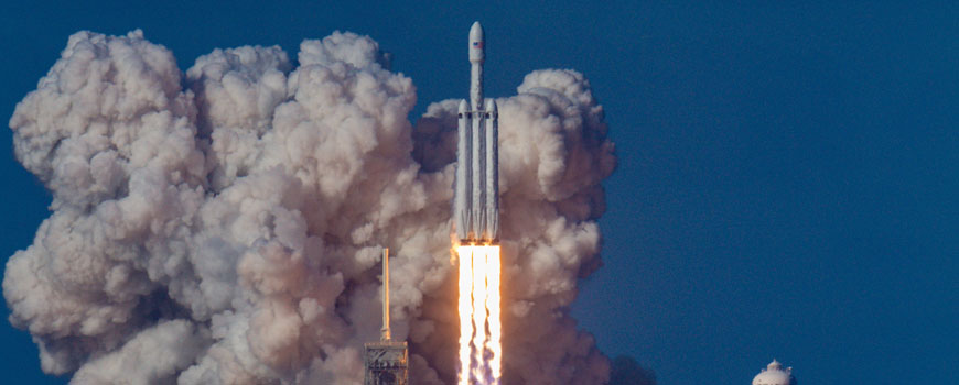 5 reasons junior science is essential banner image of falcon x lifting off from the space x base