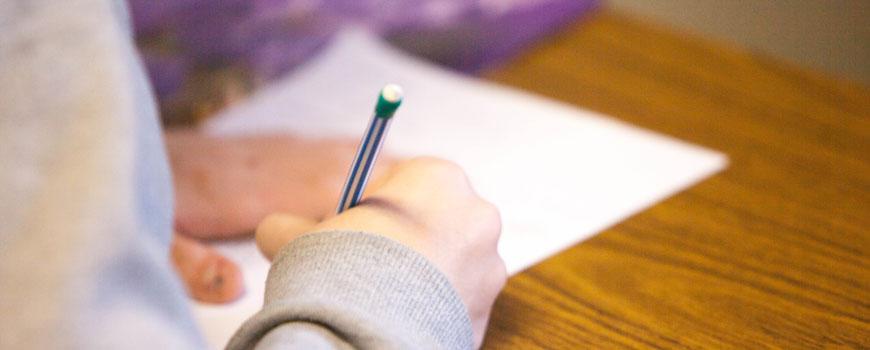 Year 9 English exam skills student sitting test