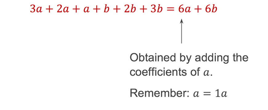 maths-guide-year-7-part-3-year-7-algebraic-techniques-addition-and-subtraction-collecting-like-terms-example-1-answer