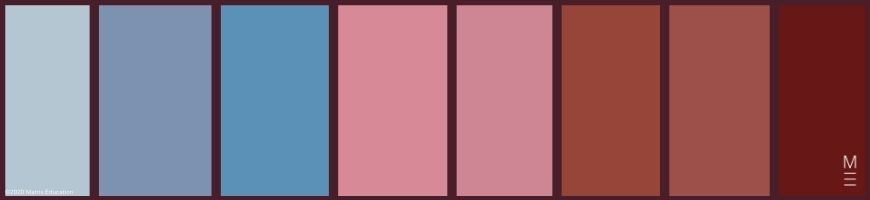 colour palette swatch grand budapest hotel