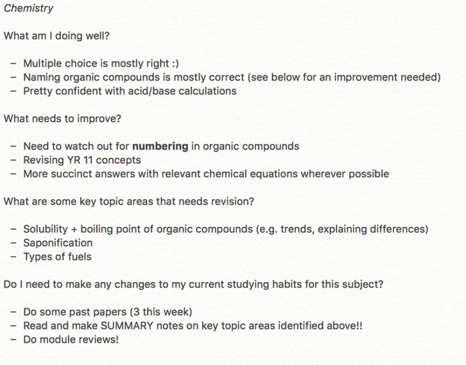How to rebound from failure by reflecting on Chemistry performance