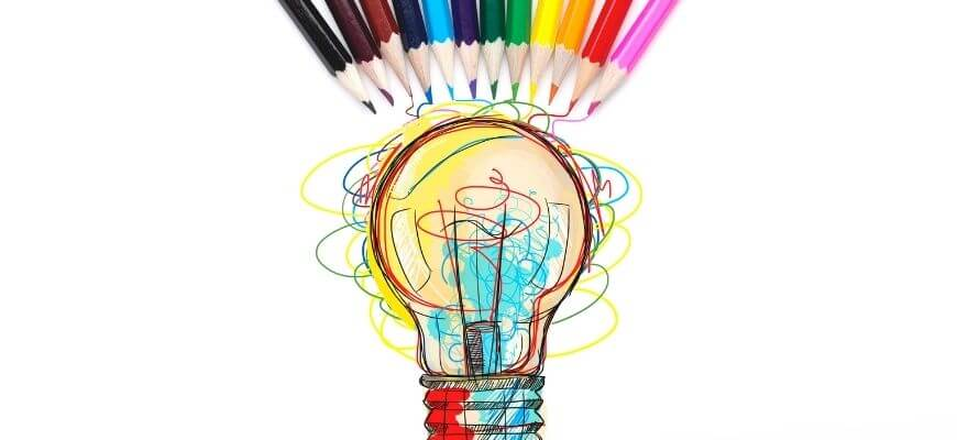 5 must dos to add sophistication to your writing - year 9 and 10 english - lighbulb with lots of colours